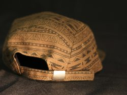 Custom 5 Panel Strapback cap with Fabric Adjuster and Metal Buckle