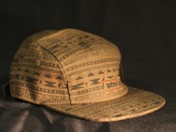 Custom 5 Panel Strapback Cap with Fabric Adjuster and Metal buckle.