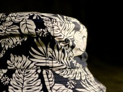 Custom Bucket Hat with all over print and contrasting cotton lining.