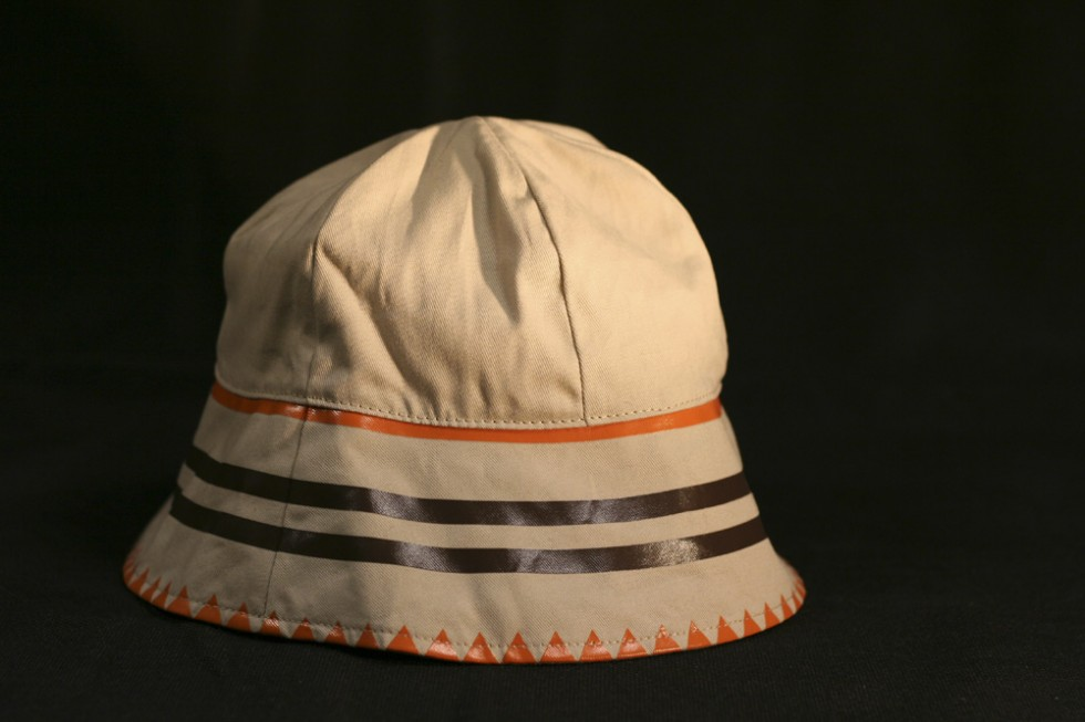 Custom 6 Panel Bucket Hat with contrasting printed detail and cotton lining.
