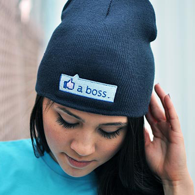 Embroidery Winter Beanie without Turn-up