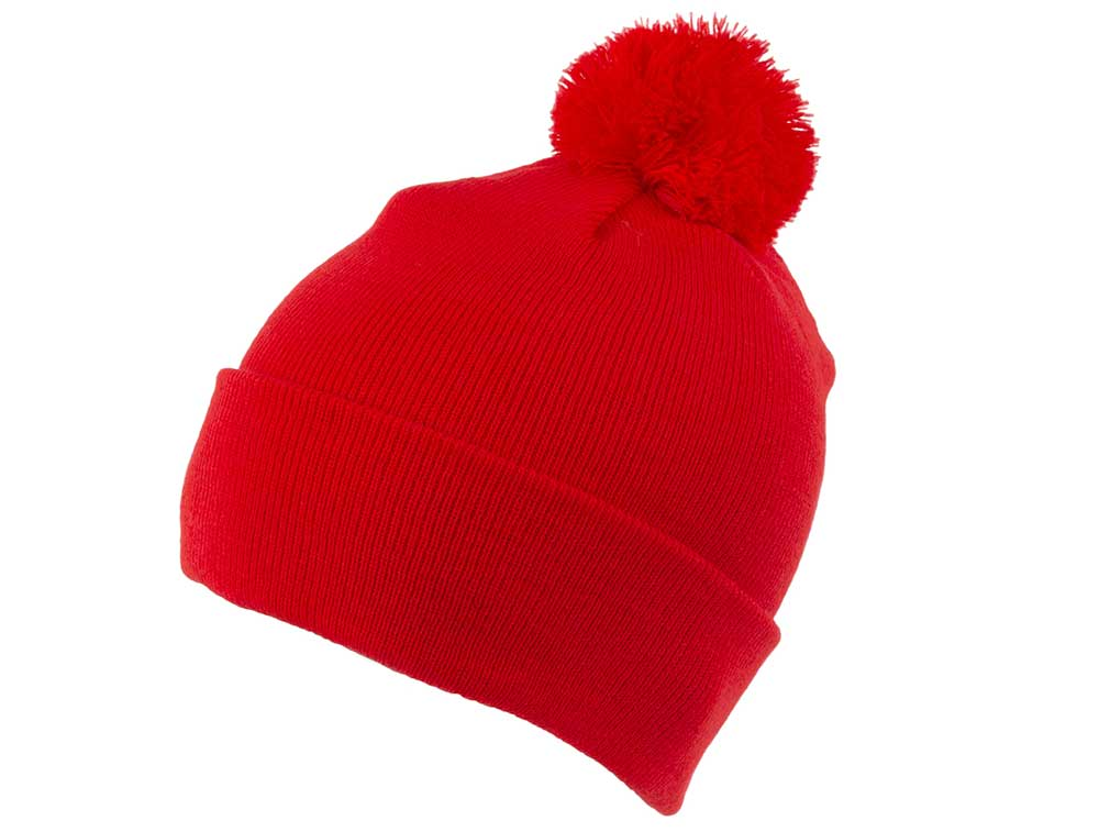 Essential 47 Bobble Beanie - Red