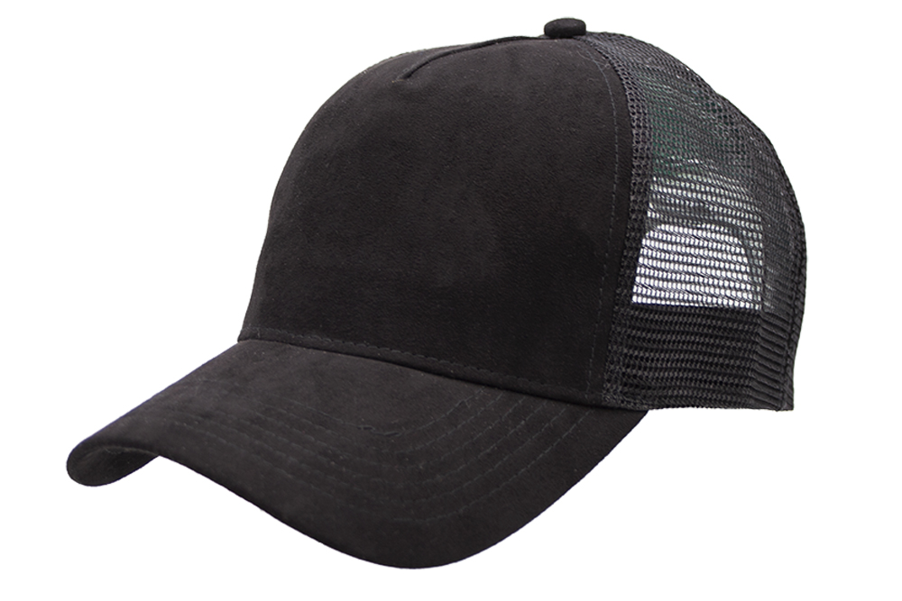 Suede Trucker Black