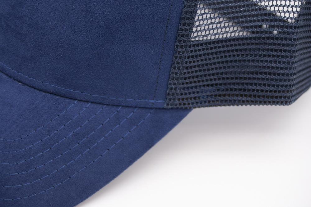 Suede Trucker Navy Detail