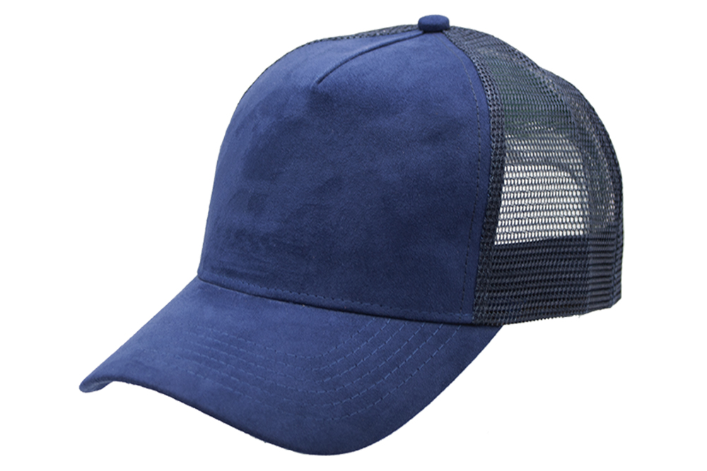 Suede Trucker Navy