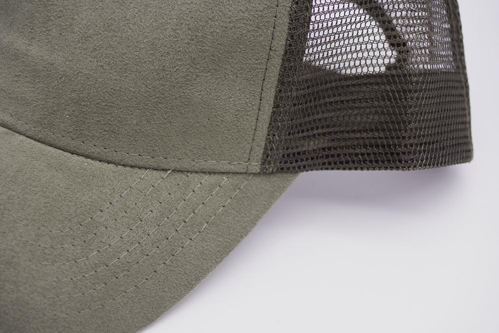 Suede Trucker Olive Detail