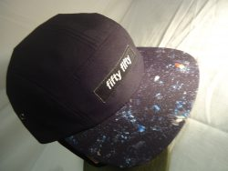 Custom 5 Panel Cap with Sublimated Peak with woven label