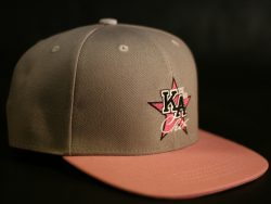 Grey and Pink Snapback colour options