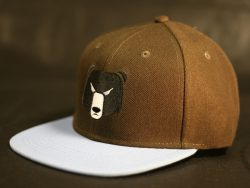 Brown and Sky Blue Snapback colour options