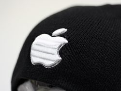 3D Embroidery Example to our Winter Beanies - APPLE